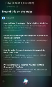 Siri - how to bake a croissant