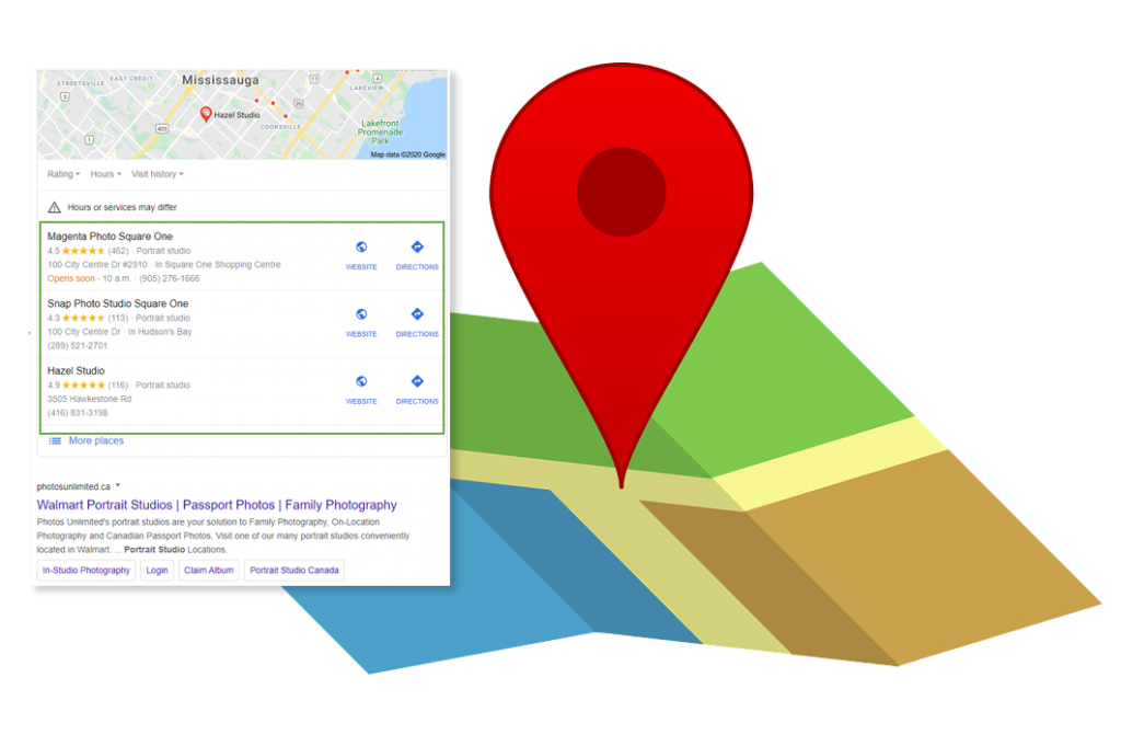 Google map pack